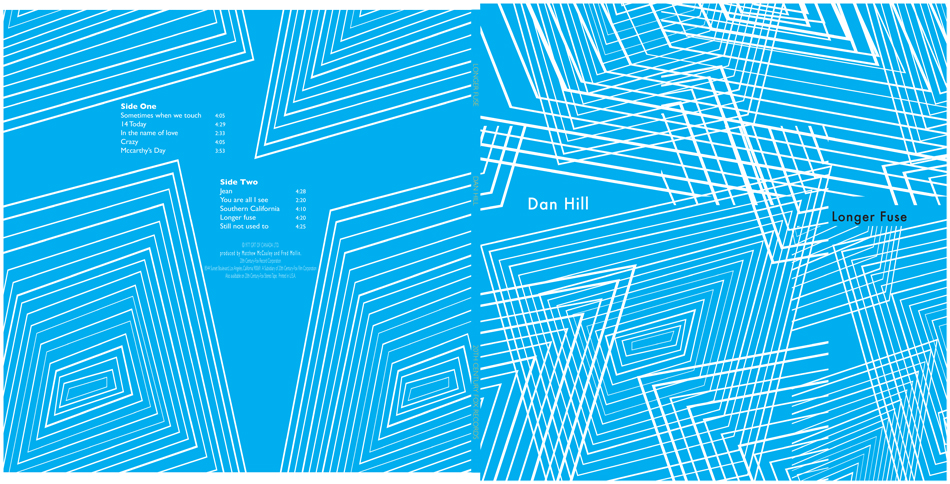 A mock vinyl album cover and sleeve for musician Dan Hill.